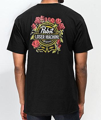 Loser Machine x PBR Full Bloom Black T-Shirt