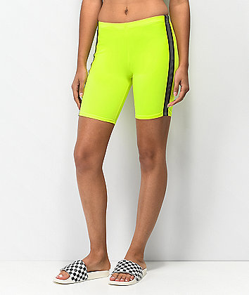 Lunachix Neon Reflective Tape Bike Shorts