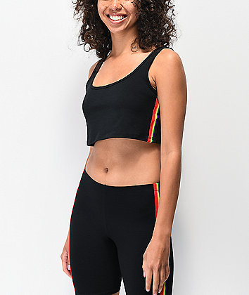 Lunachix Rainbow Tape Black Bralette