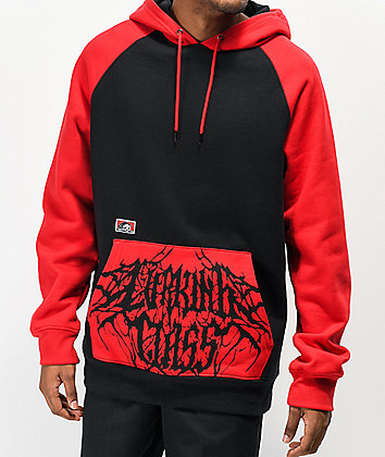 Lurking Class by Sketchy Tank Branch Red & Black Hoodie