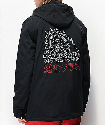 Lurking Class by Sketchy Tank Flames Black Jacket
