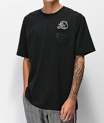 Lurking Class by Sketchy Tank Panther Black Pocket T-Shirt