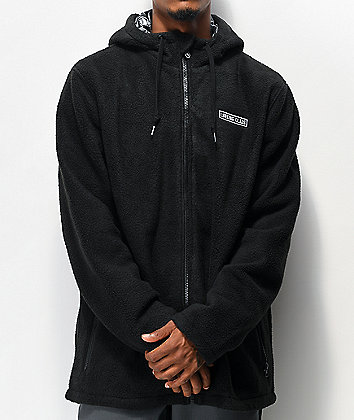 Lurking Class by Sketchy Tank Reaper Black Tech Fleece Jacket