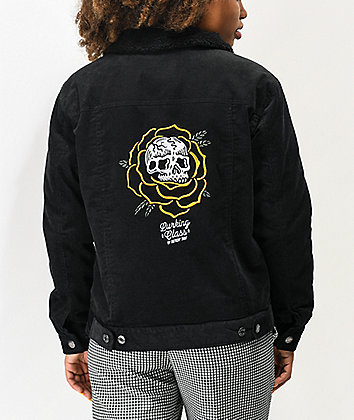Lurking Class by Sketchy Tank Thorn Rose Sherpa Black Corduroy Jacket