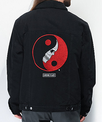 Lurking Class by Sketchy Tank Yin Yang Black Denim Jacket