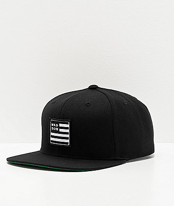 Madson Empire Flag Black Snapback Hat