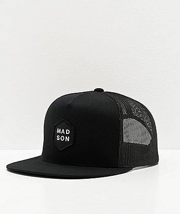 Madson Hex Black Trucker Hat