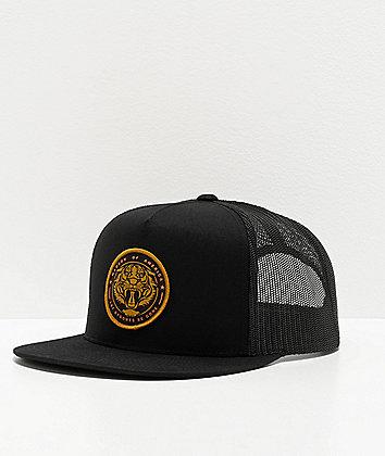 Madson Roaring Tiger Circle Black Trucker Hat