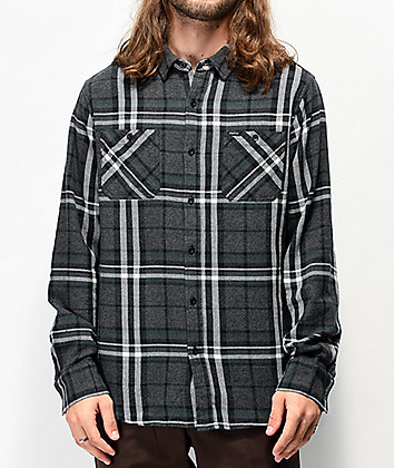 Matix Beryl Black, Grey & Green Flannel Shirt