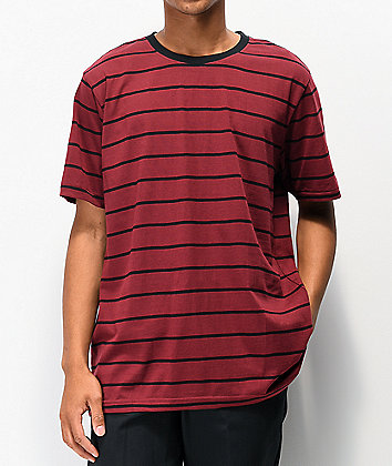 Matix Gordie Striped Red & Black Knit T-Shirt