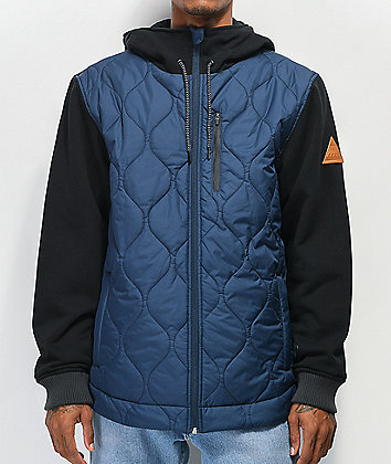 Matix Pinnacle Asher Navy & Black 2Fer Vest Hoodie