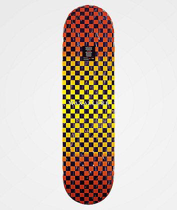 "Maxallure Let's Go Yellow & Orange Checkered 8.25"" Skateboard Deck"