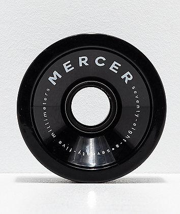 Mercer 75mm 78a ruedas de longboard negras
