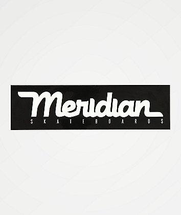 Meridian Skate Script Sticker