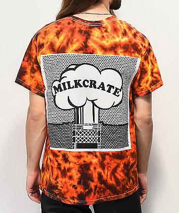 Milkcrate XXXplosion Orange Tie Dye T-Shirt