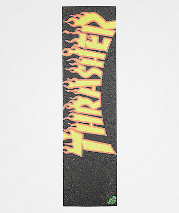 Mob x Thrasher Flame Logo Orange & Black Grip Tape