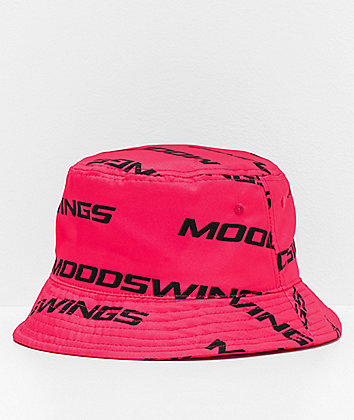 Moodswings All Over It Pink Bucket Hat