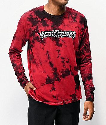 Moodswings East LA Red & Black Tie Dye Long Sleeve T-Shirt