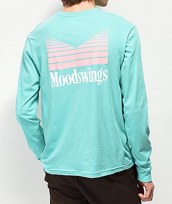 Moodswings Quantum Leap Mint Green Long Sleeve T-Shirt