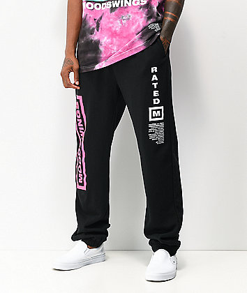 Moodswings Rated M Black Sweatpants