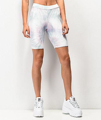 NEW girl ORDER Velvet Tie Dye Bike Shorts