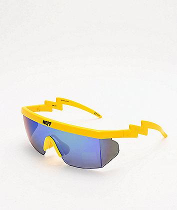 Neff Brodie Single Lens Highlighter Yellow Sunglasses