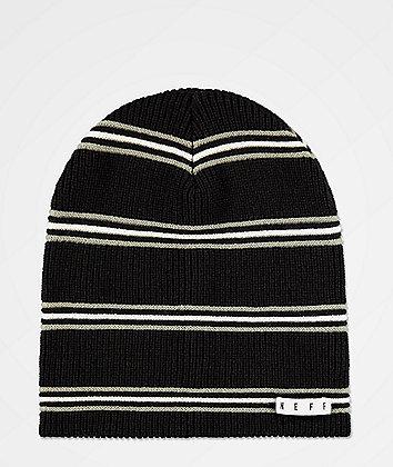 Neff Daily Black & Charcoal Stripe Beanie
