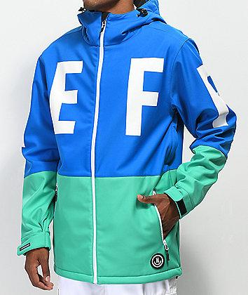 Neff Daily Blue & Teal 10K Softshell Jacket