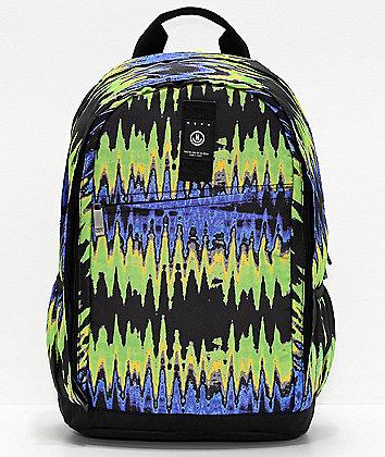 Neff Daily XL Ripple Purple & Green Tie Dye Backpack