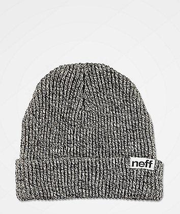 Neff Fold Heather Black & White Beanie