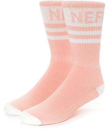 Neff Promo Peach & White Crew Socks