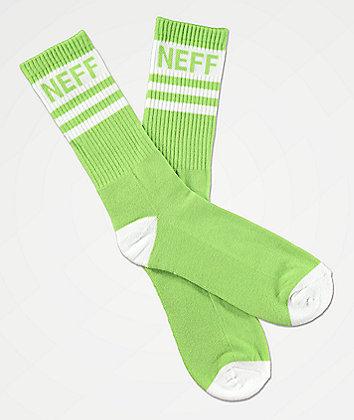 Neff Promo Pear & White Crew Socks