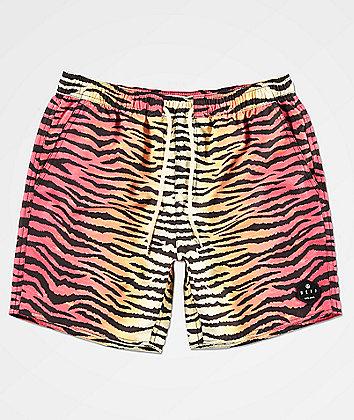 Neff Tiger Stripe Multicolor Board Shorts