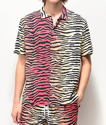 Neff Tiger Stripe Multicolor Short Sleeve Button Up