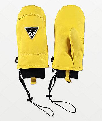 Neff Work Tan Leather Snowboard Mittens
