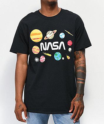 Neon Riot x NASA Planets Black T-Shirt
