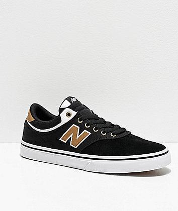 New Balance Numeric 255 Black, Brown & White Skate Shoes
