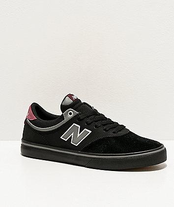 New Balance Numeric 255 Black & Burgundy Skate Shoes