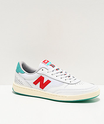 New Balance Numeric 440 Tom Knox White, Teal & Red Skate Shoes
