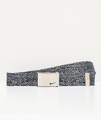 Nike Dots Black & White Reversible Web Belt