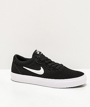 Nike SB Chron GS Black & White Skate Shoes