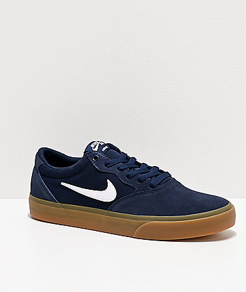 Nike SB Chron Navy & Gum Skate Shoes
