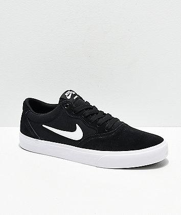 Nike SB Chron SLR Black & White Skate Shoes