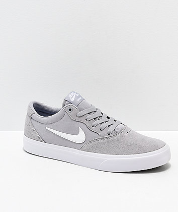 Nike SB Chron SLR Wolf Grey & White Skate Shoes