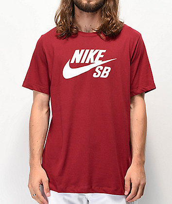 Nike SB Dri-Fit Logo Burgundy T-Shirt