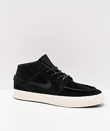 Nike SB Janoski RM Crafted Black & White Skate Shoes