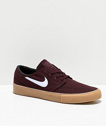 Nike SB Janoski RM Mahogany & Gum Skate Shoes