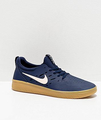 Nike SB Nyjah Blue & Gum Skate Shoes