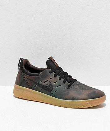 Nike SB Nyjah Free Camo & Gum Skate Shoes