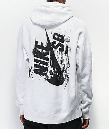 Nike SB Sideways sudadera con capucha blanca